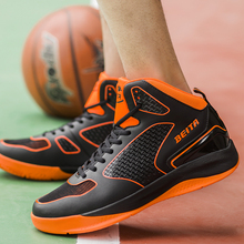 Basketball shoes sneakers men's black and white male students game sports wear non-slip shoes sneakers autumn combat boots