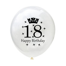 10 Pcs Lot New 12 Inch Clear Latex Balloons 18 21 30 40 50 60 Years Old Birthday Party Favors Star Crown Ballons Decoration