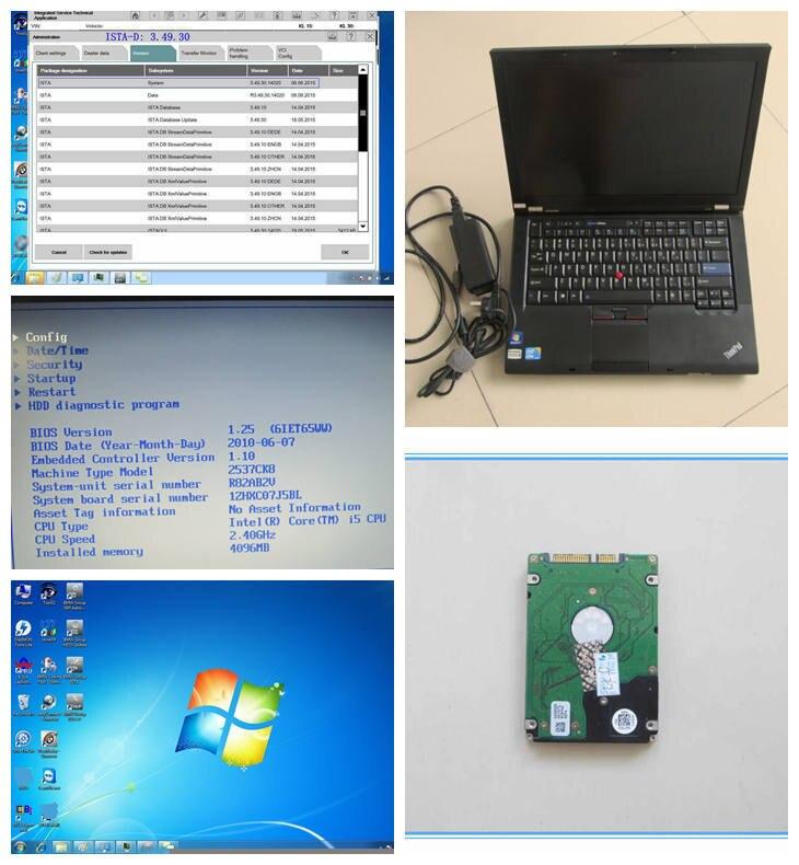 Новый ICOM A2 программное обеспечение плюс ноутбук для BMW ICOM A2 программного обеспечения HDD 500 Гб 2019,09 в с экспертным режимом установлен в (i5, 4g) T410
