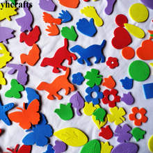 110PCS/LOT,Mixed animal weather irregular farm animals dog cat flower foam stickers Kindergarten ornament,Early educational toy(China)