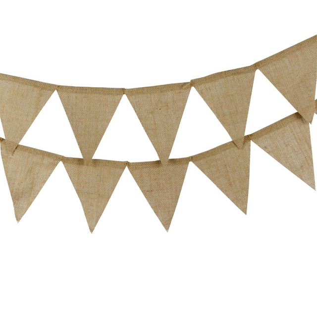 Burlap Wedding Banners Diy Bunting Traditional Personality Sign 12 Flags