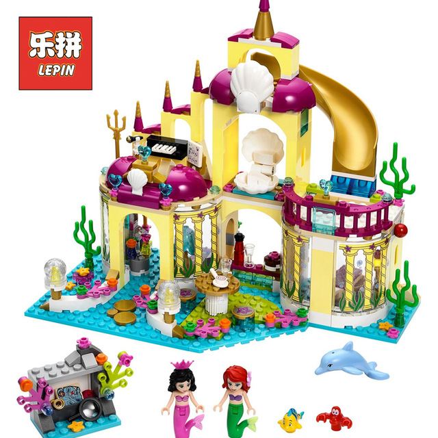 Lepin 25016 Friends Castle Model Building Kits the Undersea Palace Set Blocks Bricks Legoingly Girls Toys Children Birthday Gift lepin diy girl friends series the undersea palace set castle building blocks bricks toys for children compatible with legoingly