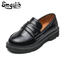 Kids Leather Shoes Boys Pu 2018 Black Party Wedding Sneakers British Style Children Casual School