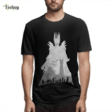 Retro Lord Of The Rings Sauron Fellowship T shirt Homme Tee Shirt Boy Free Shipping 3D Print For 100% Cotton