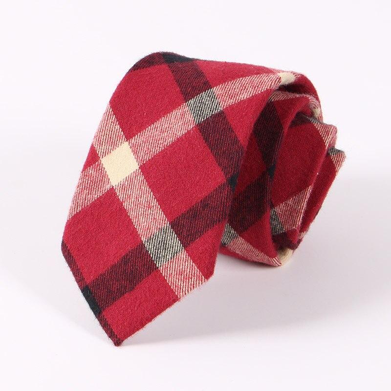 2017 New Krawatten Für Männer Hochzeit 6,5 Cm Dünne Baumwolle Schottland Grid Plaid Dünne Krawatte Business Anzug Plaid Rot Gestreiften Krawatte Geschenk