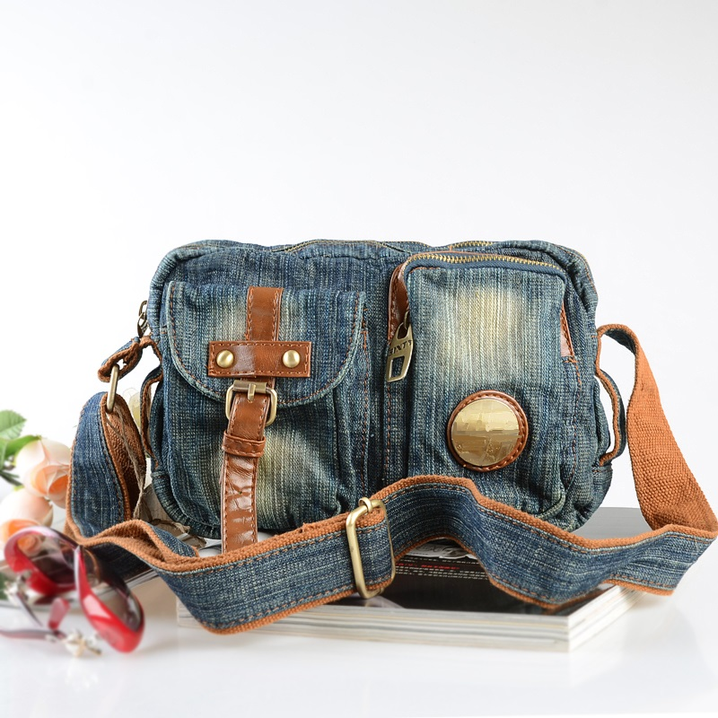 Vintage Fashion Denim Jeans Satchels Men Bags Girls Handbags Crossbody Bag Women Messenger Bags bolsos mujer bolsa feminina disposable waterproof camera with strap light blue