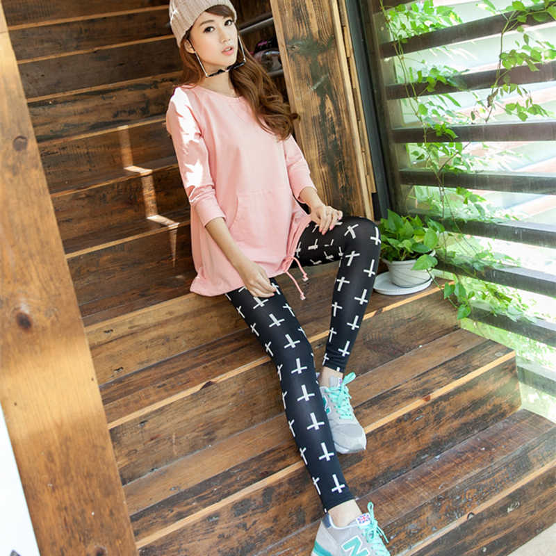6f0ee6a3688d2 ... Korean Style Stretch Leggings Fashion Breathable Milk Silk Wild  Houndstooth Trousers women Elastic leggings office lady