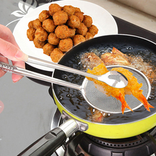 купить Oil Strainer Clip Stainless Steel Mesh Strainer For Food Fried Colander Filter For Fried Chicken leg French Fries Cutlery Cubier дешево