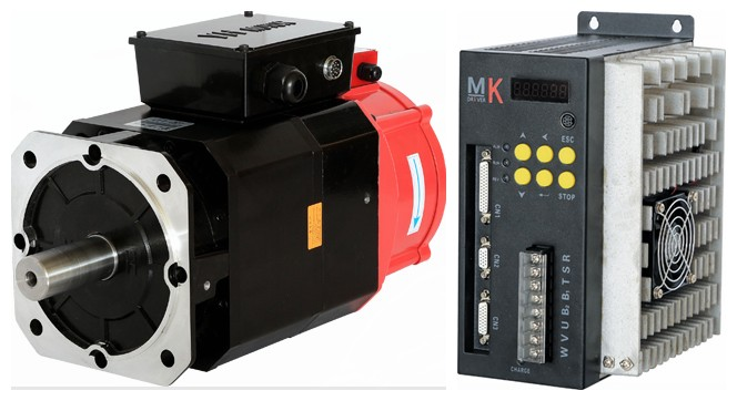 AC Servo motor 130mm 3.7KW servo driver 3.7KW for ATC spindle drive 3000rpm ~ 6000rpm asynchronous servo motor