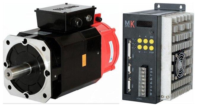 AC Servo motor 130mm 3.7KW servo driver 5.5KW for ATC spindle drive 3.7kw 3000rpm ~ 6000rpm asynchronous servo motor servo motor drive servo amplifier mr j2s 40a used for servo motor hc kfs43