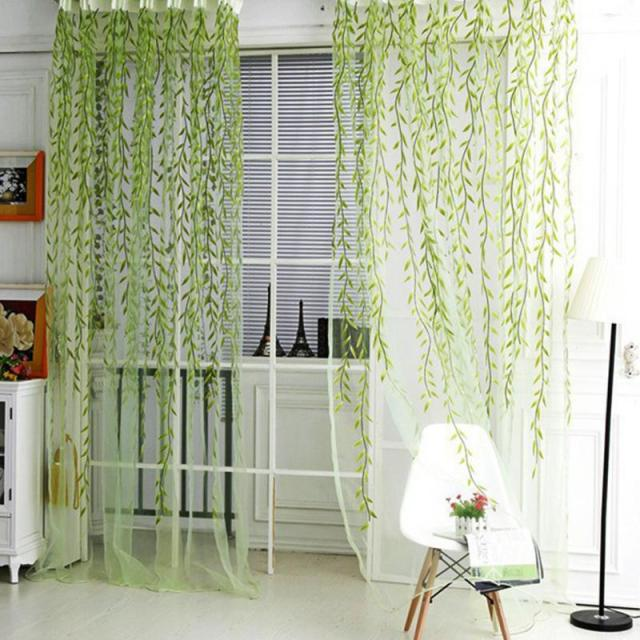 1 Mt 2 Heimtextilien Baum Willow Vorhnge Jalousien Voile Tll Vorhang Sheer Panel