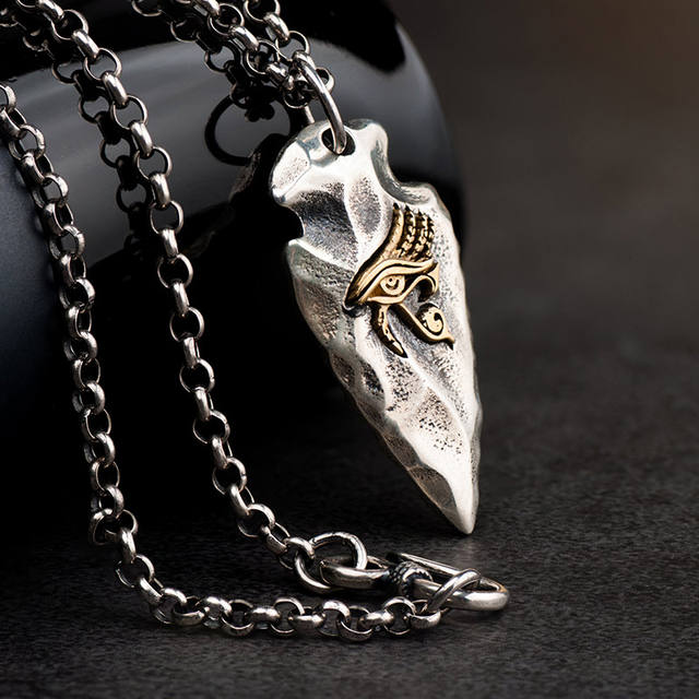 925 STERLING SILVER THE EYE OF HORUS NECKLACE