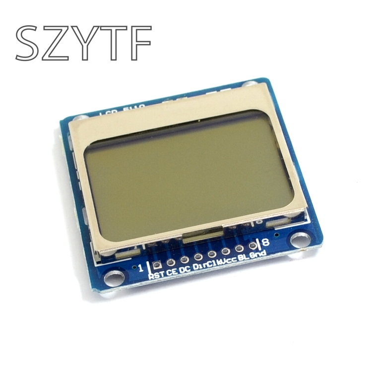 High Quality 84x48 84x84 LCD Module Blue Backlight Adapter PCB 5110  For