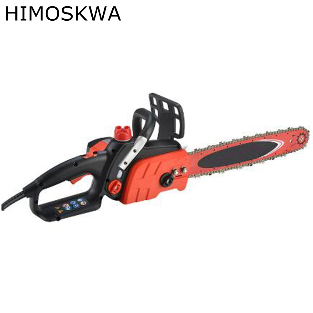 HIMOSKWA 1800W Electric saw household logging saw electric chain saw multi - purpose woodworking tools Automatically Spray oil
