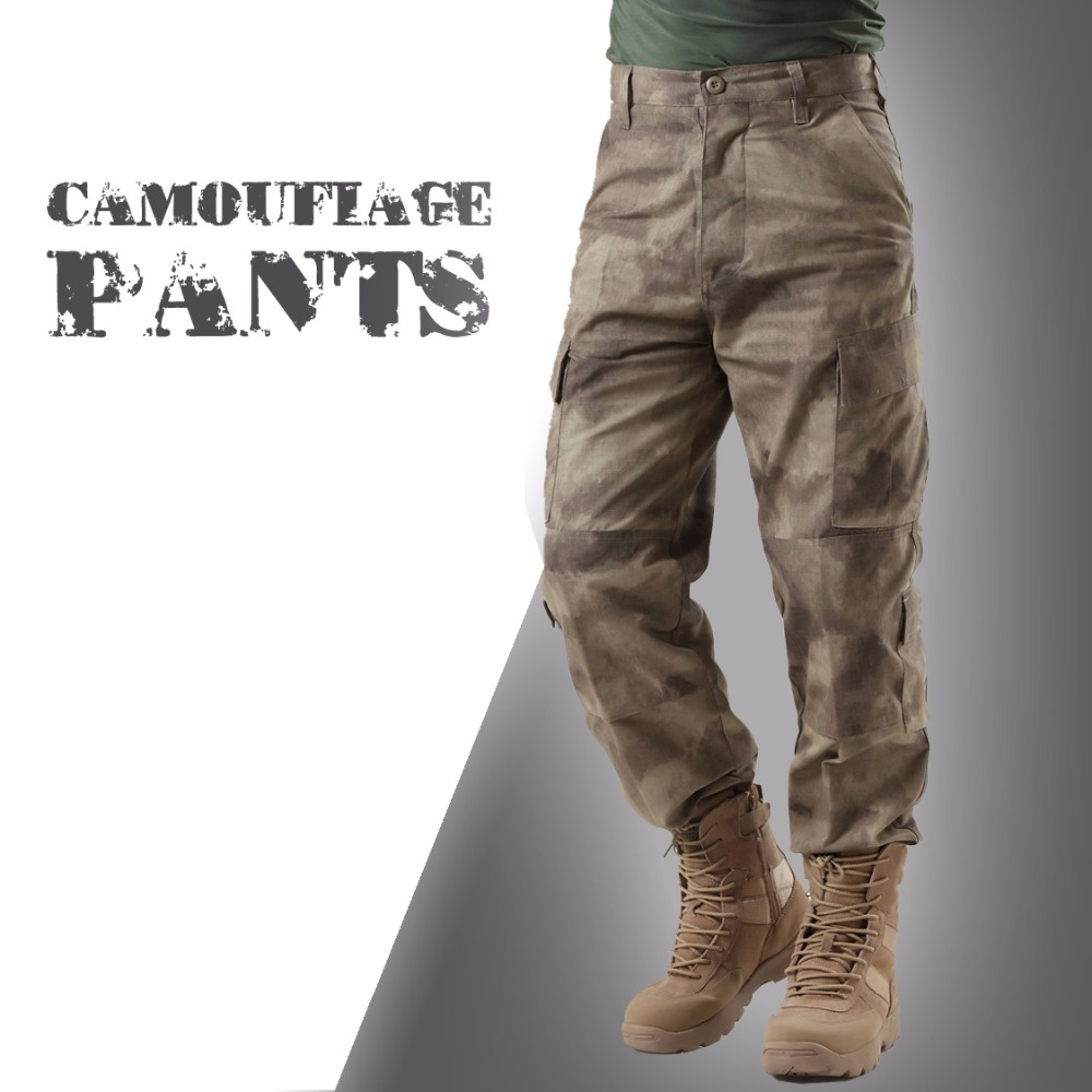 Summer Tactical A-TACS AU Camouflage Army Pants Men Waterproof Combat Military Cargo Pants Hunting Sport Outdoor Trousers