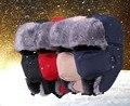 Мода унисекс зима ветрозащитный шляпу с маска спорт открытый лыжный ушанка earflap бомбардировщик охотник шапки бомбардировщик русский шляпы
