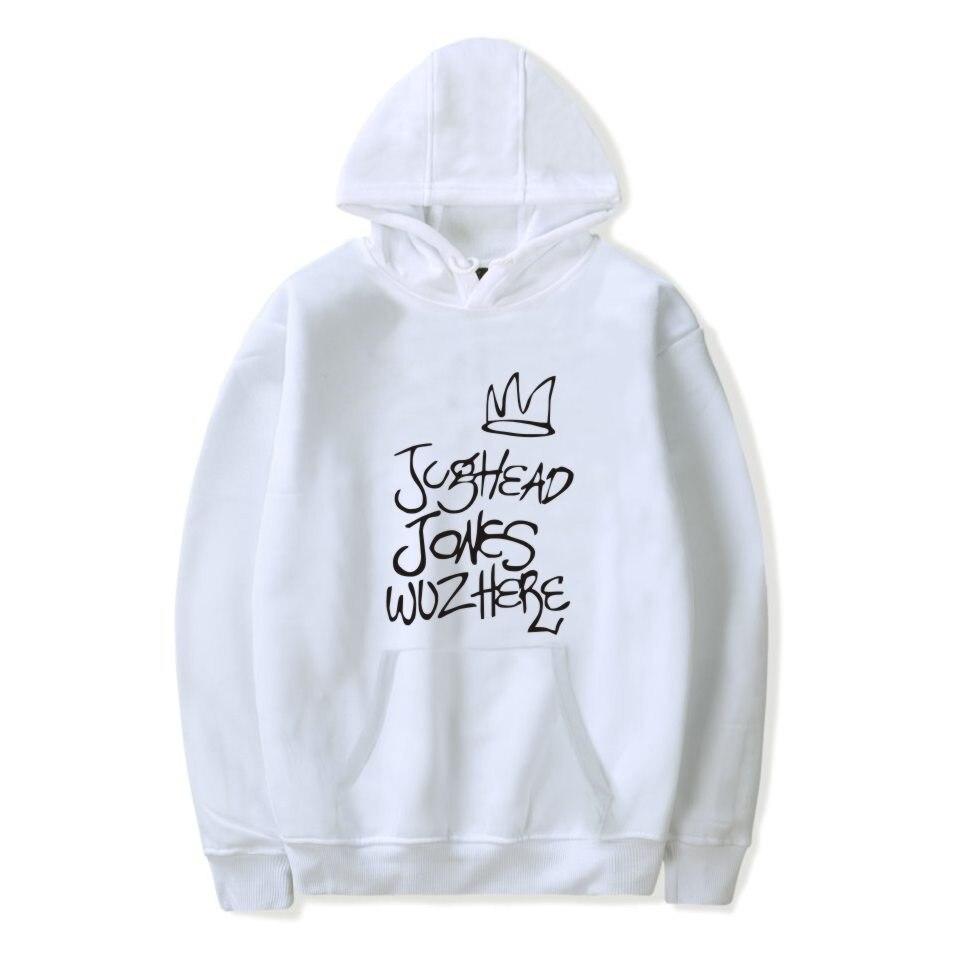 2019 Riverdale Jughead Jones Wuz Here Female Women Hoodies Sweatshirts Hooded Hoody Pullovers Harajuku Casual Television Coat