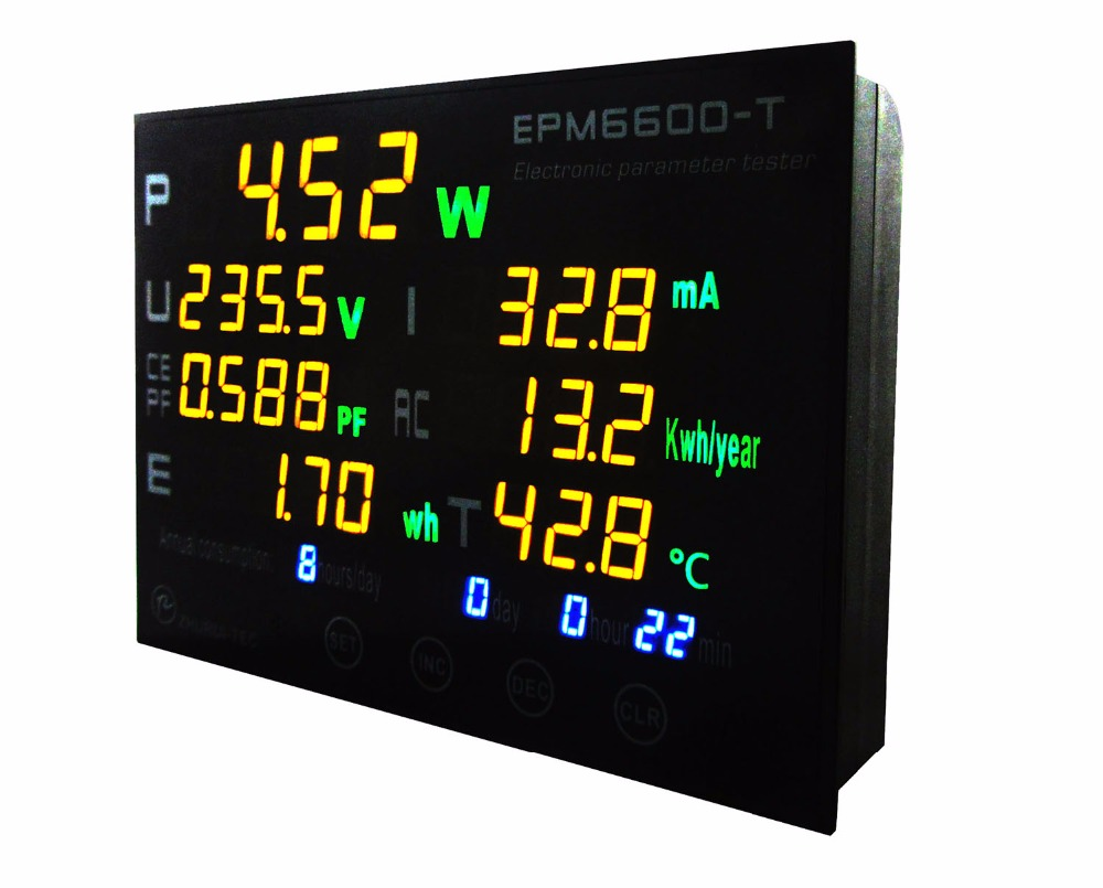 EPM6600-T 2000W /220v /110v / 10A digital  multi-function electricity meter with thermometer  99999kwhEPM6600-T 2000W /220v /110v / 10A digital  multi-function electricity meter with thermometer  99999kwh