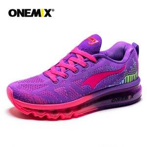 Image 3 - ONEMIX 여성 운동화 통기성 제직 운동화 에어 쿠션 2020 운동화 여성 테니스 신발 라이트 zapatos de mujer
