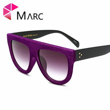 5cbba512b2 MARC UV400 mujeres hombres escudo gradiente plástico oculos moda gafas Rosa  sol Azul Púrpura