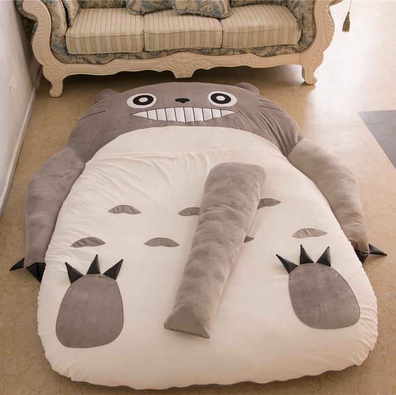 Mattresses Folding Couch Bed Totoro Mattress Cute Cartoon Sleeping Bags Saco De Dormir Peluche Lazy Cover In Sleepsacks From Mother Kids