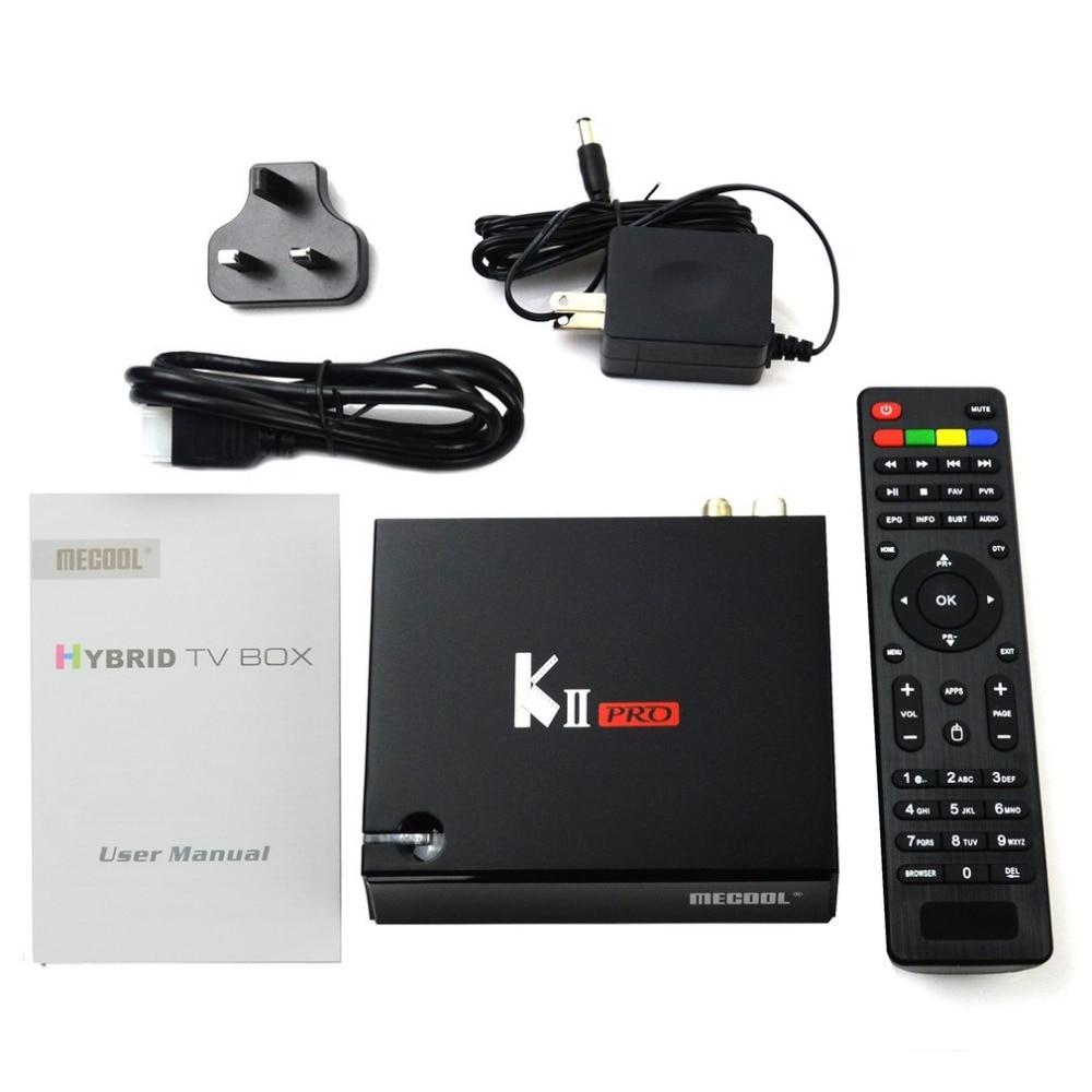 KII PRO T2S2 for Android 5.1.1 TV BOX Amlogic S905 Quad-core 64 Bit 2GB RAM 16GB ROM WIFI H.264 Smart Set Top BOX mecool kii pro tv box dvb t2 dvb t2 s2 amlogic s905 quad core 2gb 16gb android 5 1 tv box bluetooth 2 4g 5g wifi set top box