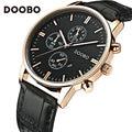 2017 Luxury Brand DOOBO Watches Quartz Clock Fashion Leather belts military Men watch Sport casual wrist watch relogio masculino