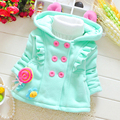 Baby Girl Coat Cardigan Sweaters With Ears Autumn Jacket Casaco Meisjes Infantil Newborn Jacket Outerwear Babies Girls 70D039