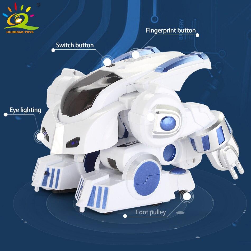 HUIQIBAO игрушки Деформация Интеллектуальный RC робот с музыкой танец электронный умный пульт дистанционного управления игрушки для детей пода... - 5