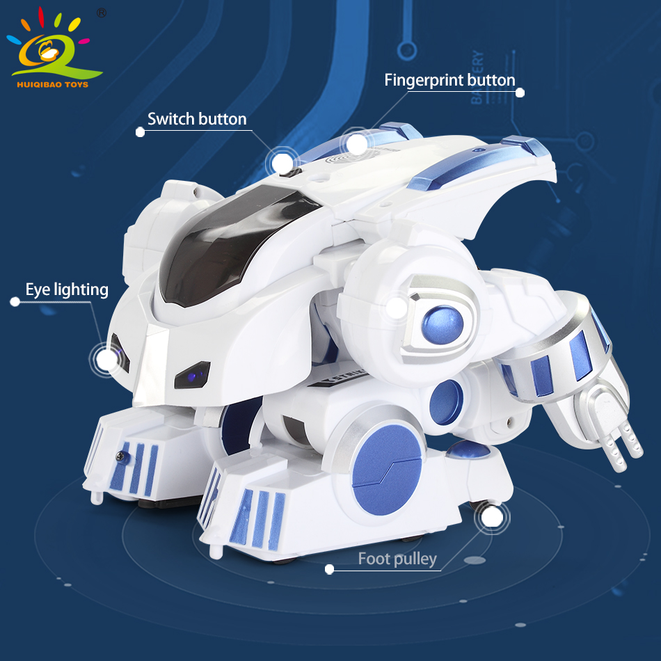 Huiqibao brinquedos de deformação inteligente rc robô com dança música controle remoto eletrônico inteligente brinquedos para crianças presente aniversário - 5