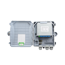 1 minute 8 Core Fiber Optic Termination Box 8port FTTH optical fiber distribution box and 1X8 PLC Fiber Splitter Free shipping