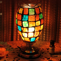 light table lamp complex antique mosaic lamp burner plug wedding light DF94