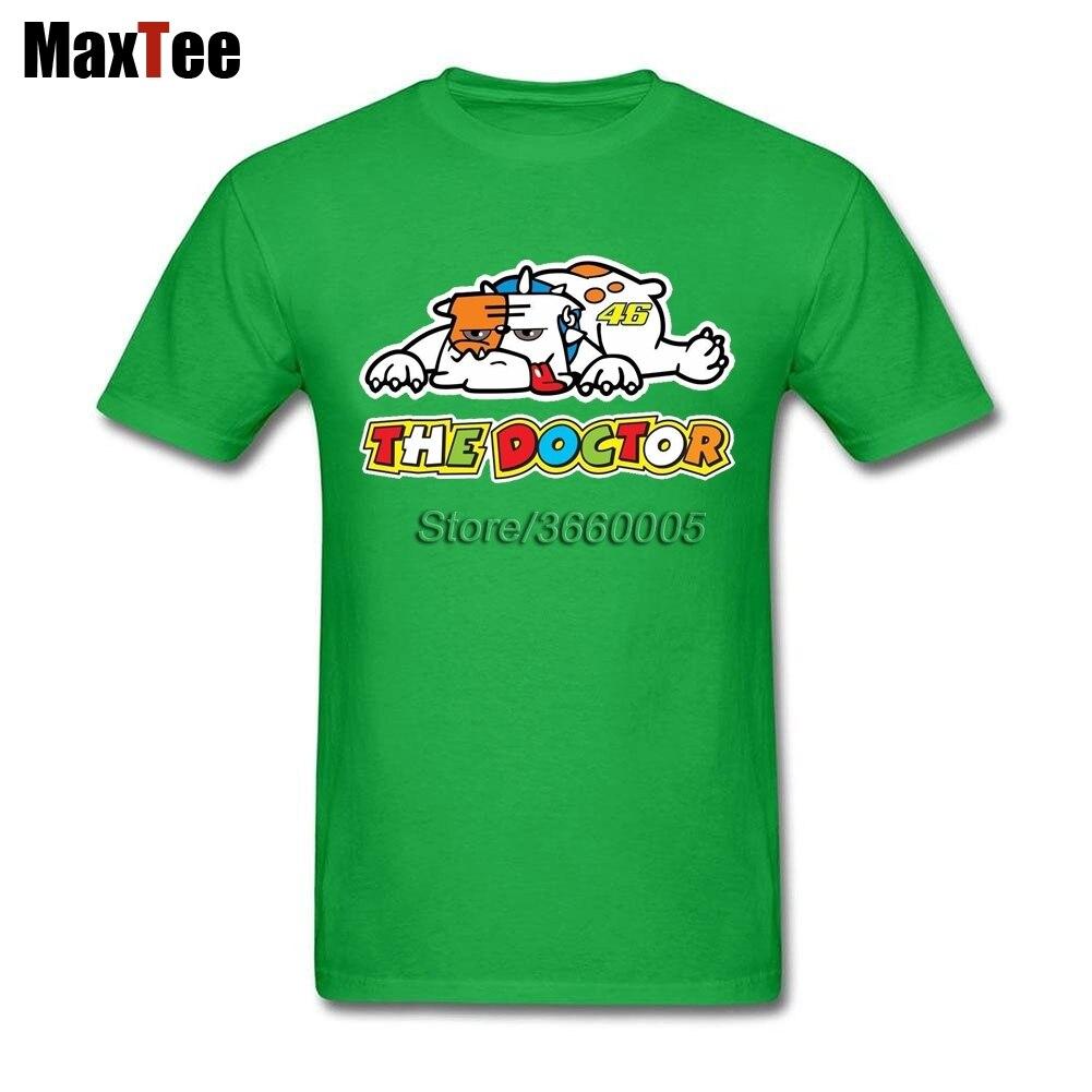 The Doctor Rossi VR46 Bulldog Tees Shirt Men Homme Custom Short Sleeve Big Size Team Motor GP Tee Shirts