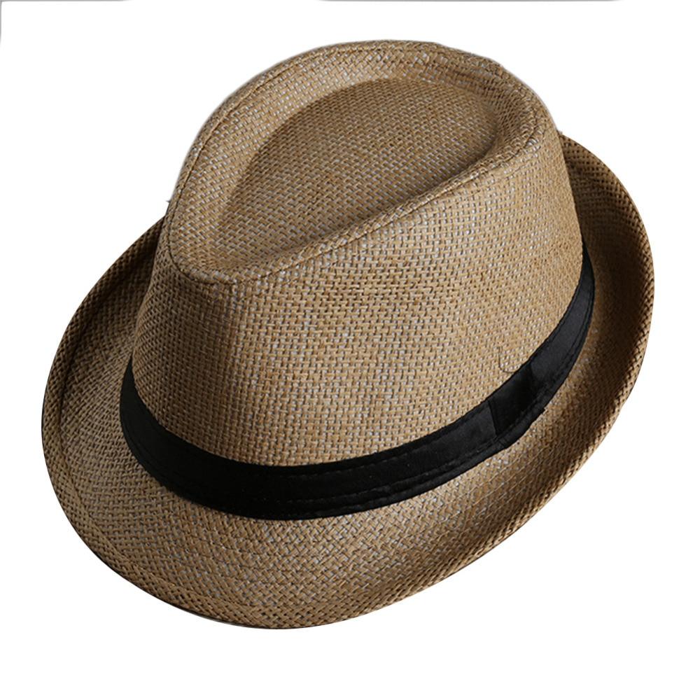 802564dd5d998 Homens Mulheres fita patchwork chapéu de Palha Fedora Aba Larga Preto Cap  chapéu mole Unisex Summer Beach Sun Chapéu Panamá chapeu feminino Y1 em  Chapéus de ...