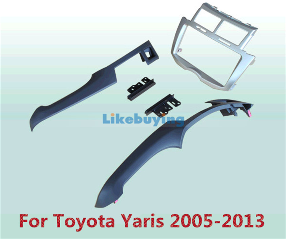 2 Din Car Frame Dash Kit / Car Fascias / Mount Bracket Panel For Toyota Yaris 2005 2006 2007 2008 2009 2010 2011 2012 2013 free shipping car refitting dvd frame dash cd panel for buick excelle 2008 china facia install plate ca4034