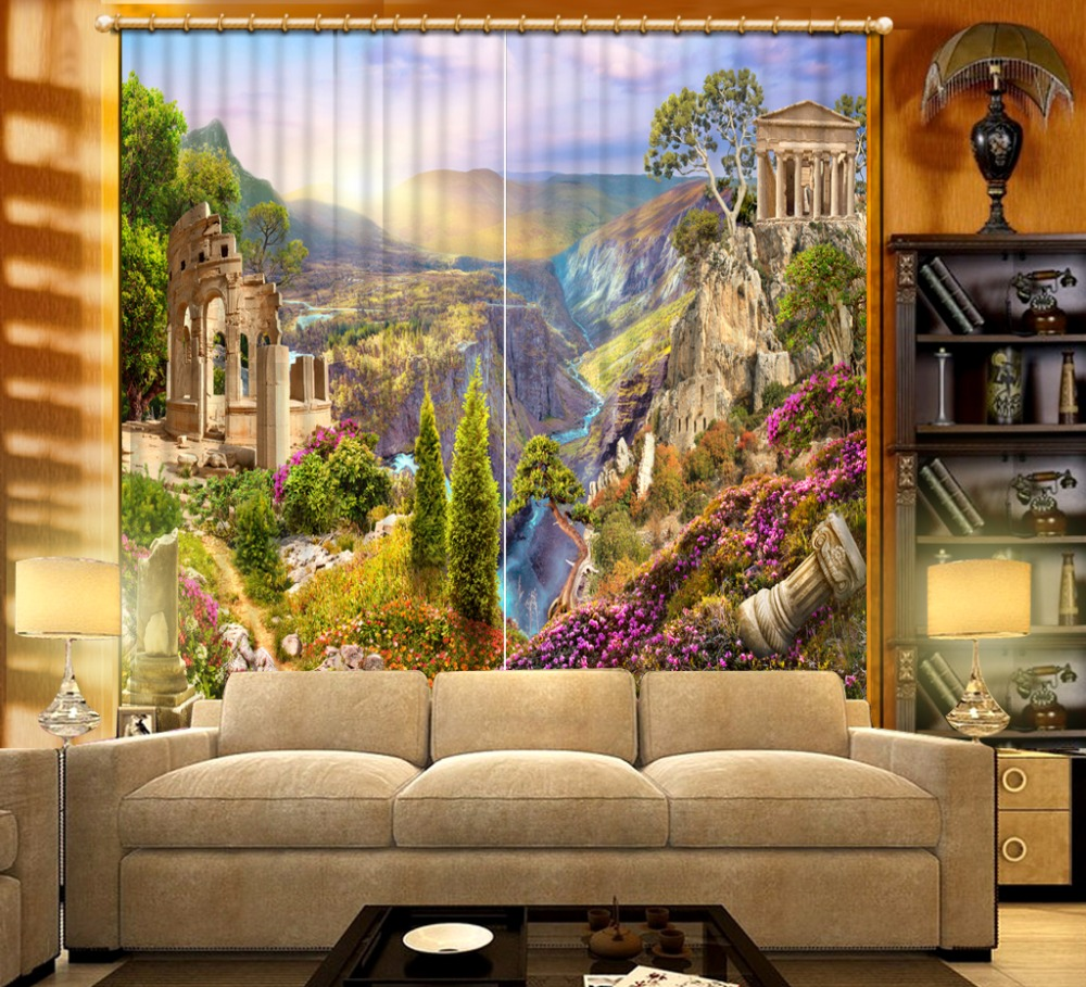 Curtain 3d Blackout Window Oil painting landscape Curtains For baby room Living room Bedroom Decoration Curtains         Curtain 3d Blackout Window Oil painting landscape Curtains For baby room Living room Bedroom Decoration Curtains