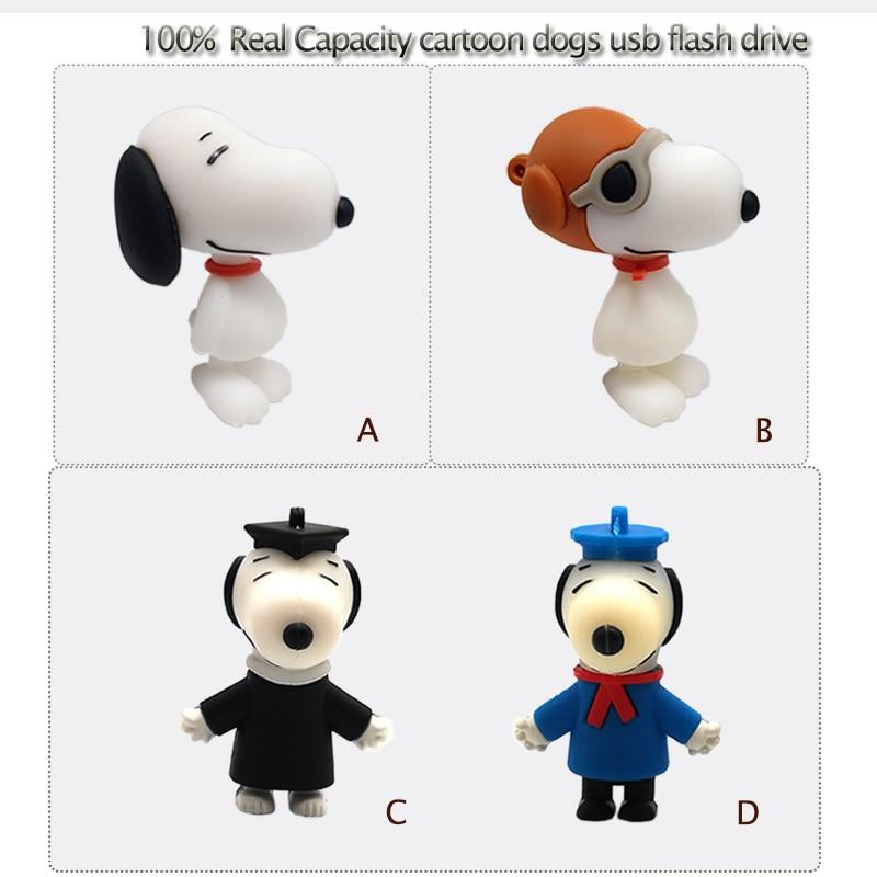 USB Stick Pen Drive Cartoon Doctoral Dog Usb Flash Drive 4GB 8GB 16GB 32GB Music Dog Memory Stick U Disk Creative Gift Pendrive