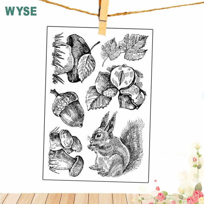 Mermaid Stamps Animal Squirrel Flower stamps Easter Rabbit Clear stamps Silicone transparent stamp for Scrapbooking DIY tools