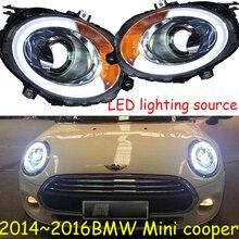 Stoßstange lampe für mini Scheinwerfer LED 2014 ~ 2016/2013 ~ 2017 Scheinwerfer DRL LED Kopf Lampe Engel Auge Bi Xenon strahl Zubehör