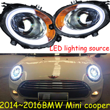 bumper lamp for mini Headlights LED 2014~2016/2013~2017 Headlight DRL LED Head Lamp Angel Eye Bi Xenon Beam Accessories