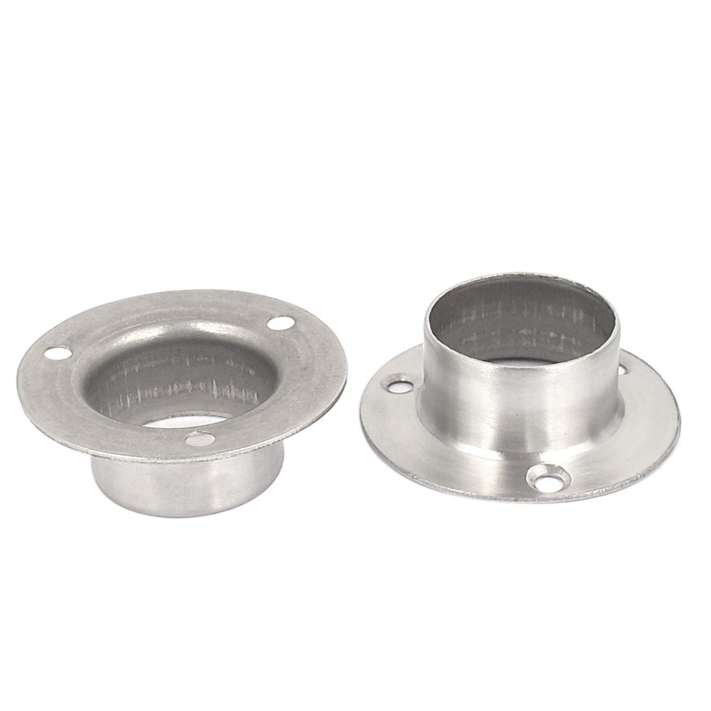 UXCELL 2pcs Closet Hanging Rail Rod End Flange Support Bracket Socket For  32mm Dia Pipe Silver Tone Hot Sale