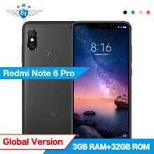 Xiaomi Redmi Not 6 Pro 3 GB 32 GB Küresel Sürüm 6.26 ''Snapdragon 636 Octa Çekirdek Akıllı Telefon 20MP 2MP Ön Kamera 4000 mAh C...