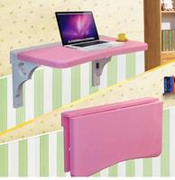 Solid Wood Notebook Computer Desk Desk Table Folding Lazy Student Dormitory Desk Wall Painting