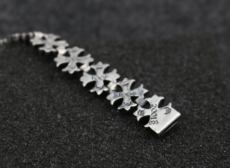 S925 браслет из стерлингового серебра модные популярные аксессуары новый крест вокруг панк стиль 2019 горячая распродажа - 4