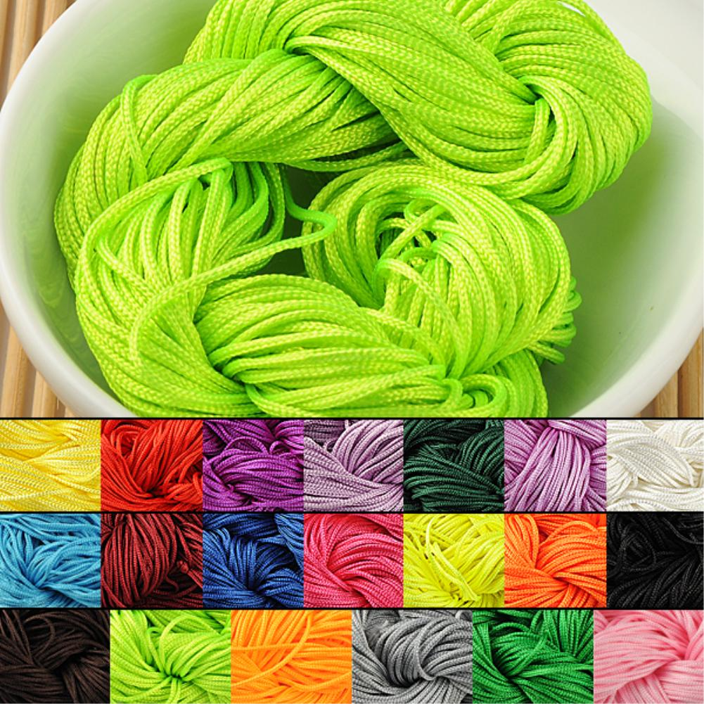 Cheap NEW+Hot Selling Hot Sale 19 Color Nylon Cord Thread Chinese Knot Macrame Rattail 1mm*22M For DIY Bracelet Braided