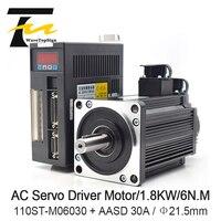 WaveTopSign 1.8KW AC Servo Motor Driver 6N.M 30000RPM 110ST M06030 AC Motor Matched Servo Motor Driver Complete Motor kits