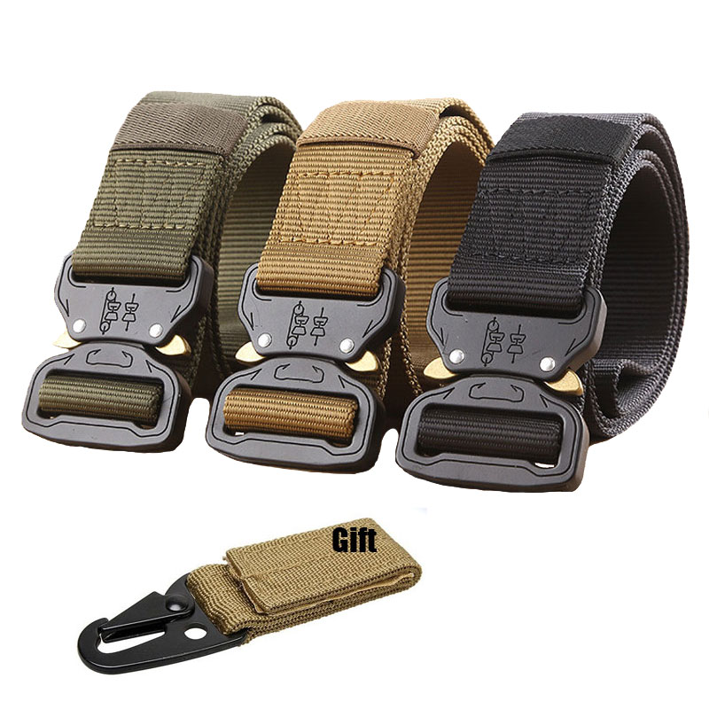 Military Tactical Belt Men Army SWAT Equipment Nylon Belt Special Forces Combat Training Hunt Carrying Thicken Camo Waist Belt