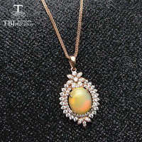 TBJ,2017 New classic design,Natural opal oval cut 10*12mm gemstone pendant with chains necklace in 925 sterling silver jewelry