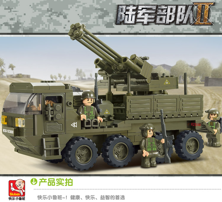 0302 Sluban model building kits compatible with lego city army 3D blocks Educational model & building toys hobbies for children