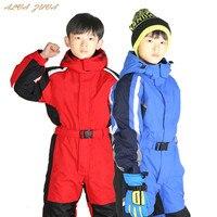 Children Winter Ski Suit Boys Girls Windproof Waterproof Snowsuit Kids Warm Rompers Overalls Jumpsuit Cyy226